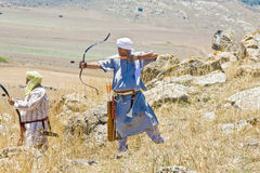 Saracen aiming with a bow Royalty Free Stock Photography