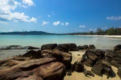Saracen bay. At Saracen bay, Koh Rong Samloem Island, Cambodia Royalty Free Stock Photography