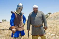 Saracen et un chevalier Image libre de droits
