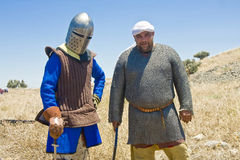 Saracen and a Knight Royalty Free Stock Image