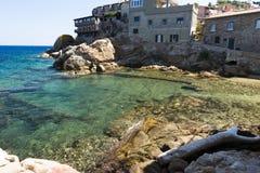 Saracen plaża przy miastem Giglio wyspa W?ochy zdjęcie royalty free