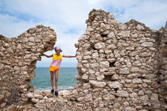 Saracen tower, coast of Gargano, Vieste Royalty Free Stock Photography