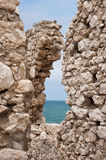 Saracen tower, coast of Gargano, Vieste Stock Image