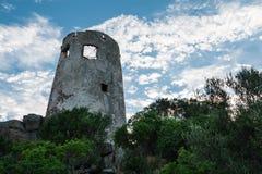 Saracen Tower in Italy in Sardina Coast Royalty Free Stock Photography
