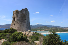 The saracen Tower, Villasimius Royalty Free Stock Photography