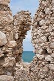 Saracene toren, kust van Gargano, Vieste Stock Afbeelding