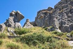 Saracenic Fortress. Pietrapertosa. Basilicata. Italy. Royalty Free Stock Images