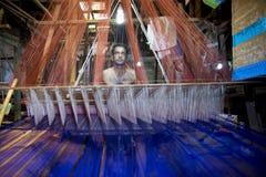 Sarafat Khan Sadhin 46 år en Benarashi Palli arbetare Royaltyfri Bild