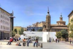 saragossa Περιοχή Plaza del Πιλάρ Στοκ φωτογραφίες με δικαίωμα ελεύθερης χρήσης
