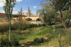 Saragossa Stockbild