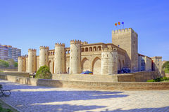 Saragossa. Aljafería Palace Royalty Free Stock Photos