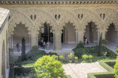Saragossa. Aljafería Palace Stock Photography
