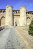 Saragossa. Aljafería Palace Royalty Free Stock Images