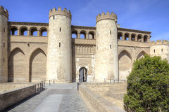 Saragossa. Aljafería Palace Stock Photos