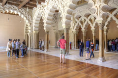 Saragossa. Aljafería Palace Royalty Free Stock Photo