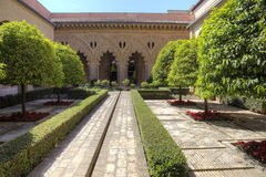 saragossa aljaferÃa pałac zdjęcia royalty free