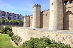 Saragossa. Aljafería Palace Stock Images