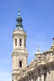Saragossa. Cathedral of Mother of God Pillar Royalty Free Stock Images