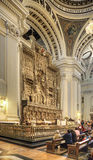 Saragossa. Interior of cathedral of Mother of God Pillar Royalty Free Stock Image