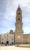 Saragossa, Plaza del Pilar. San Salvador Cathedral Royalty Free Stock Photo