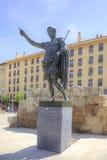 saragossa Romański cesarz Caesar Augustus obrazy stock