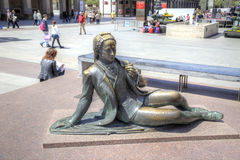 saragossa Skulptur des Ritters Lizenzfreie Stockbilder