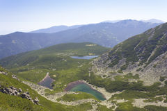 Saragyol lakes 1. A beautiful high mountain landscape from Saragyol lakes in Rila mountain in Bulgaria Royalty Free Stock Photography