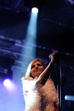Sarah Cracknell, singer of Saint Etienne, performs at San Miguel Primavera Sound Festival Royalty Free Stock Images