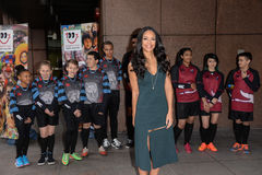 Sarah-Jane Crawford attends the annual ICAP Charity Day Royalty Free Stock Image