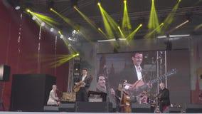 Sarah McKenzie τη διεθνή ημέρα τζαζ στην Άγιος-Πετρούπολη 2018, Ρωσία απόθεμα βίντεο