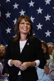 Sarah Palin. A scene from a political rally of Republican Sarah Palin smiling Stock Photo