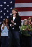 Sarah Palin. A scene from a political rally of Republican Sarah Palin smiling and clapping Stock Photos