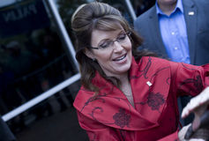 Sarah Palin auf Buch-Ausflug Lizenzfreie Stockfotos