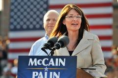 Sarah Palin, das an der Sammlung spricht Lizenzfreie Stockfotografie