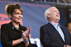 Sarah Palin and John McCain Royalty Free Stock Photo