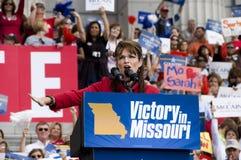 Sarah Palin kommt an Stockbilder