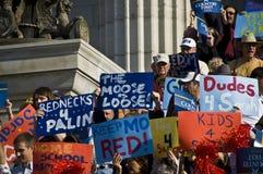 Sarah Palin llega Fotos de archivo libres de regalías