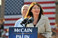 Sarah Palin parlant au rassemblement Photographie stock libre de droits