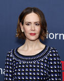 "Sarah Paulson. Actress Sarah Paulson arrives on the red carpet for the New York premiere of ""The Normal Heart, "" at the Ziegfeld Theatre in New York City on Stock Image"