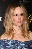 Sarah Paulson arrives at the 37th Annual Gracie Awards Gala Stock Photography