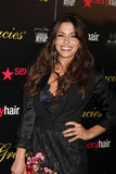 Sarah Shahi arrives at the 37th Annual Gracie Awards Gala Stock Photos