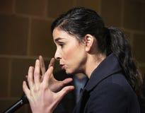 Sarah Silverman an Tribeca-Geschichtenerz?hlern bei Tribeca-Film-Festival 2019 stockbild