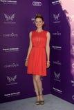 Sarah tecknade att ankomma på den 11th årliga Chrysalisfjärilsbollen Royaltyfria Bilder