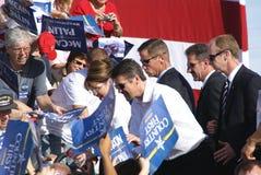 Sarah u. Todd Palin Richmond, VA lizenzfreies stockbild