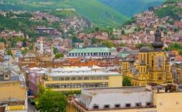 Sarajevo. Panoramic view of Sarajevo, Bosnia and Herzegovina royalty free stock photos