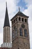 Sarajevo, Bośnia i Herzegovina, Bascarsija, Zegarowy wierza, Sarajevska Sahat Kula, Gazi Błagamy meczet, linia horyzontu obrazy royalty free