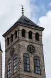 Sarajevo, Bośnia i Herzegovina, Bascarsija, Zegarowy wierza, Sarajevska Sahat Kula, linia horyzontu, widok z lotu ptaka, zegar, w zdjęcie royalty free