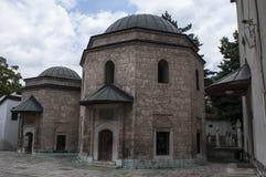 Sarajevo, Bośnia i Herzegovina, Gazi Błagamy meczet, mauzoleum, podwórze, koran, Koran, meczet obraz stock