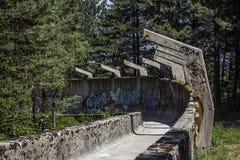 Sarajevo Bobsleigh ślada obrazy royalty free