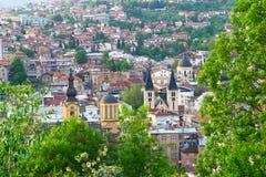 Sarajevo, Bosnia and Herzegovina. Sarajevo, the capital city of Bosnia and  Herzegovina, landscape view Royalty Free Stock Photo